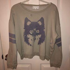 Wildfox distressed sweatshirt